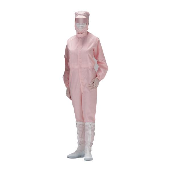 クリーンウェア 超静電クリーンスーツ C1515P ピンク