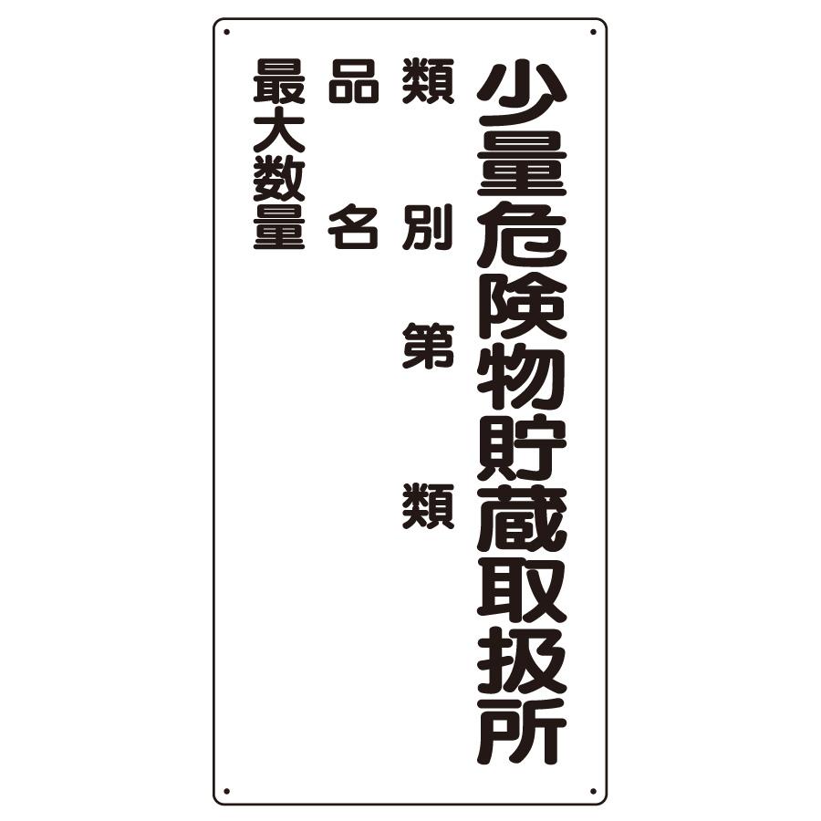 危険物標識 319−08 少量危険物貯蔵取扱所類別品名最