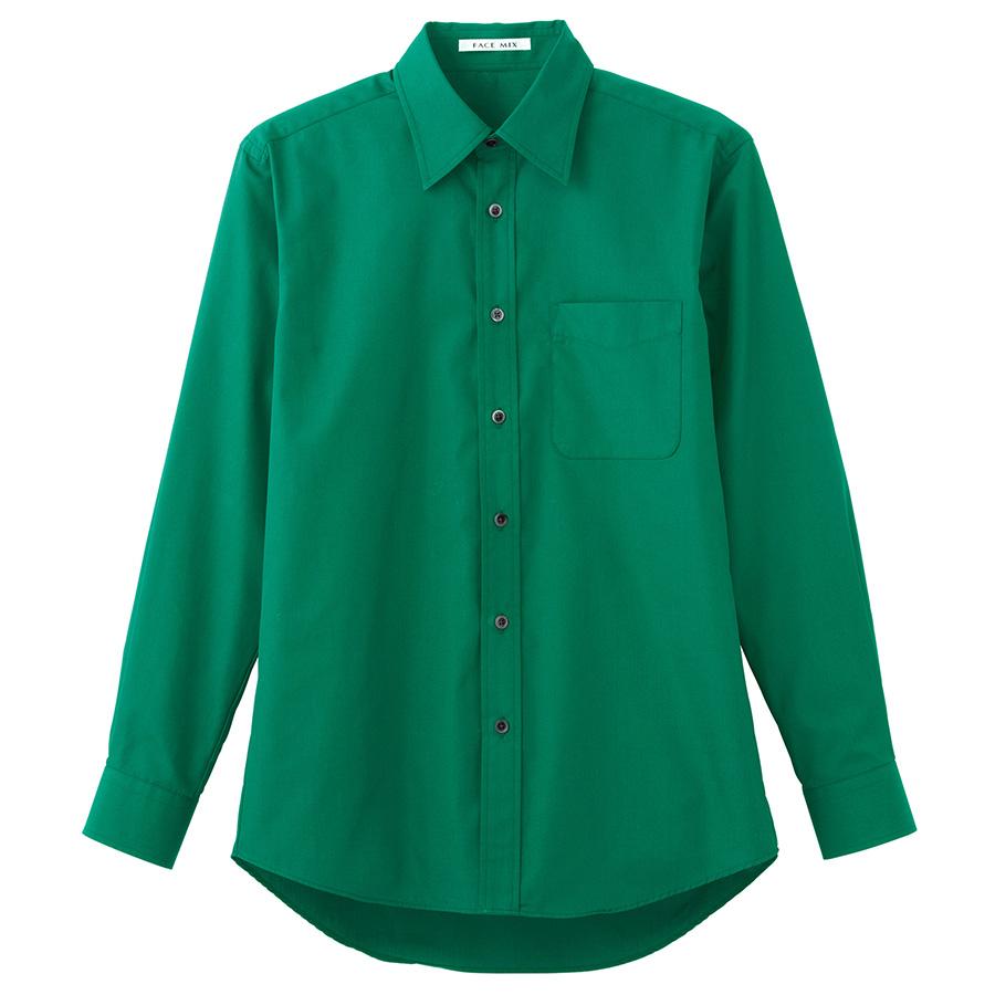 ブロードレギュラーカラー 長袖シャツ FB4526U−4 グリーン