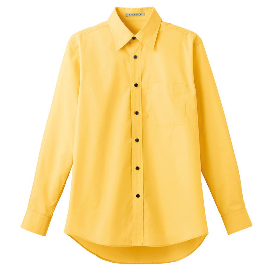 ブロードレギュラーカラー 長袖シャツ FB4526U−10 イエロー