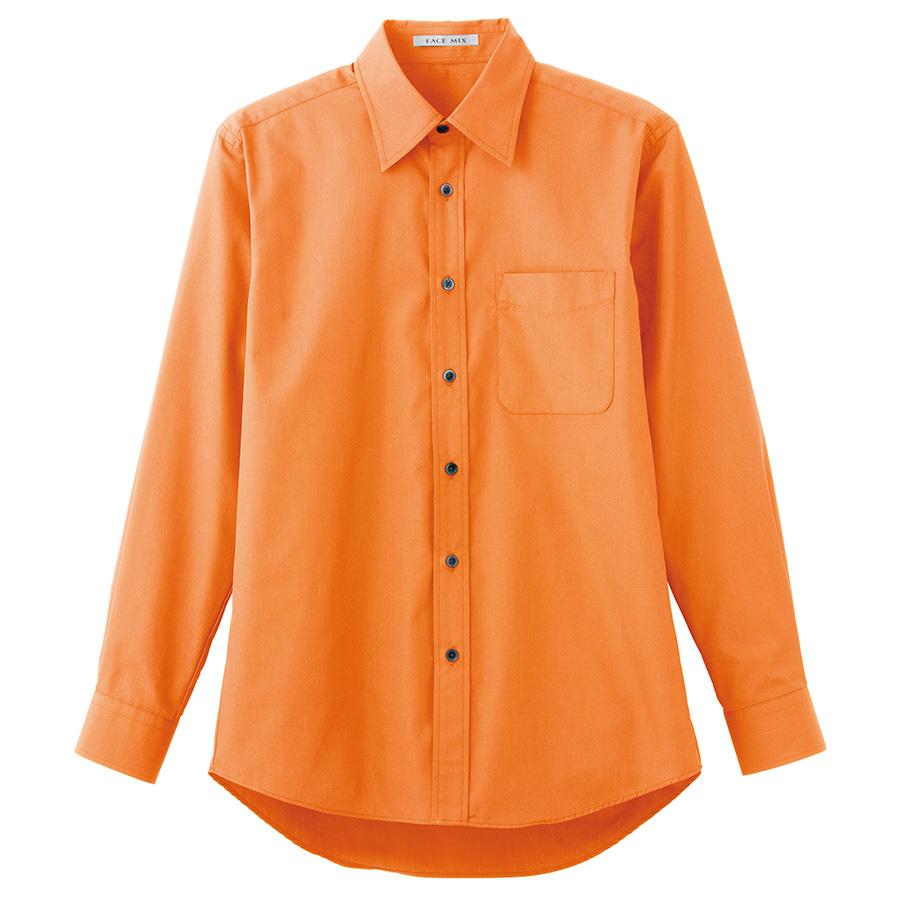 ブロードレギュラーカラー 長袖シャツ FB4526U−13 オレンジ