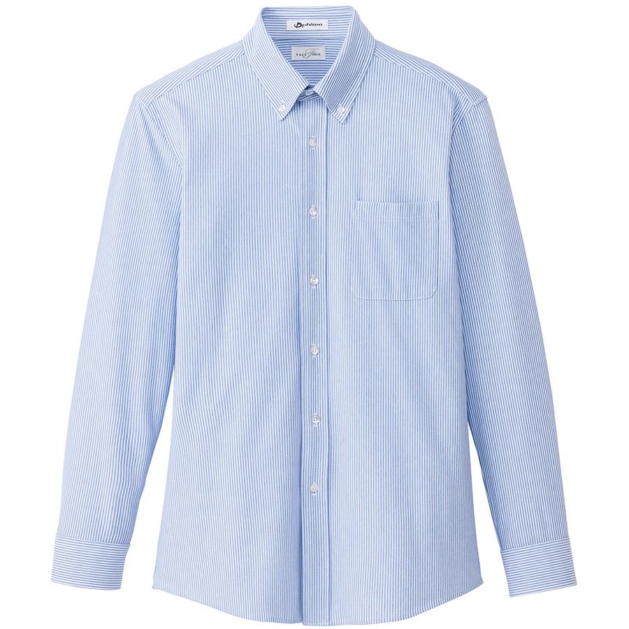 メンズ ニット吸汗速乾 長袖シャツ FB5028M−7 ブルー