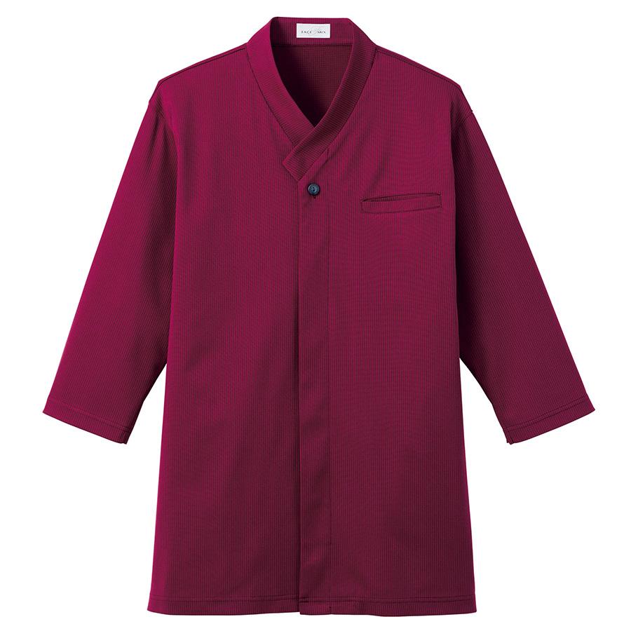 和衿ニットシャツ FB4533U−3 ワイン