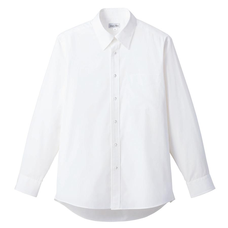 ブロード レギュラーカラー 長袖シャツ FB4534U−15 ホワイト