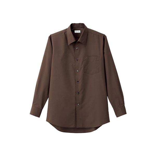 メンズ 開襟長袖シャツ FB5043M−5 ブラウン