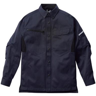 ユニセックス 長袖シャツ RS4902−8 ネイビー