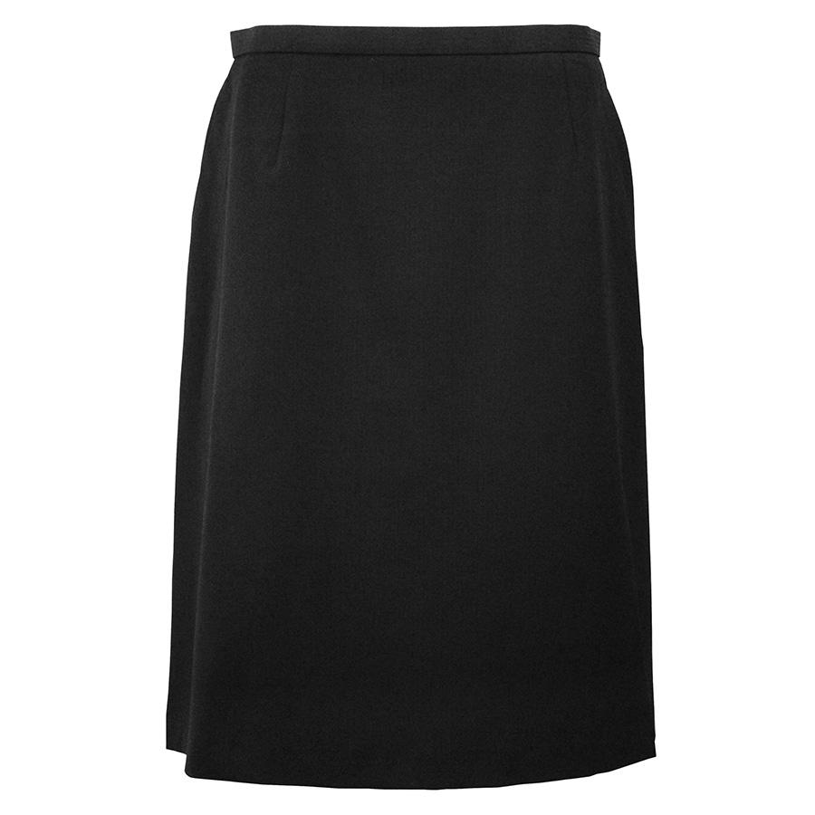 Excella Aラインスカート AS2258−16 ブラック (5〜21号)