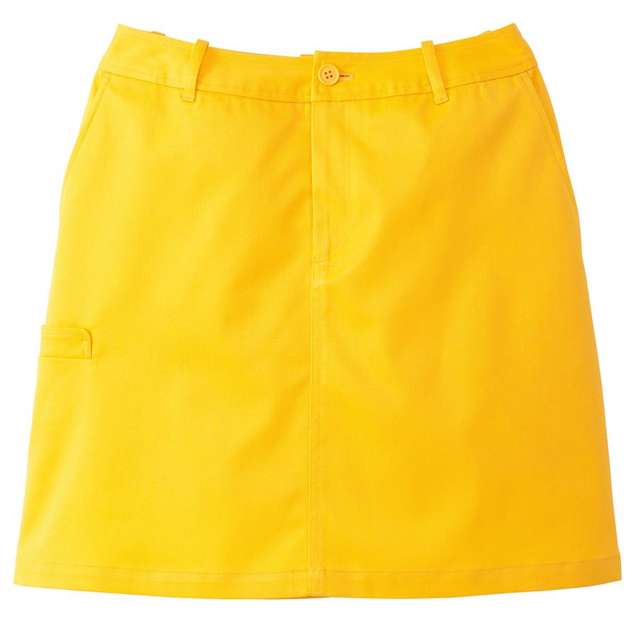 ストレッチチノカラー スカート FS2002L−10 イエロー