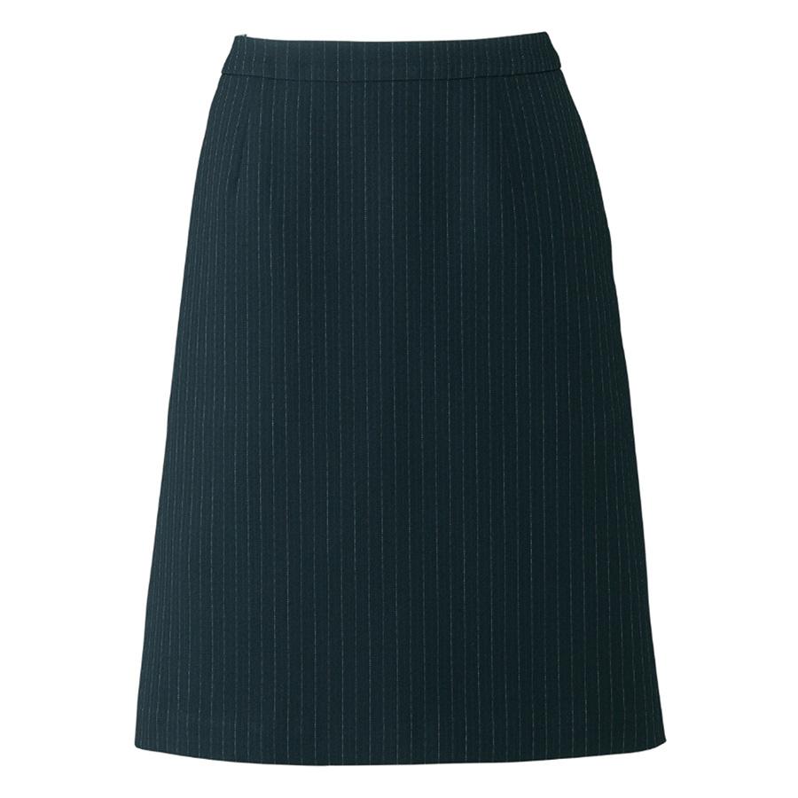 Lien AS2284−30 Aラインスカート ブラック×グレイ (5〜19)