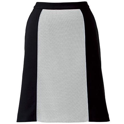 Aラインスカート BCS2104−15 ホワイト