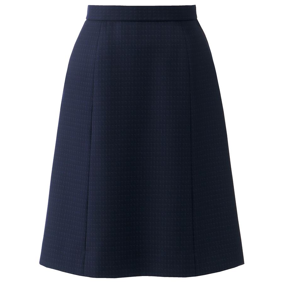 Aラインスカート AS2315−38 ネイビー×パープル