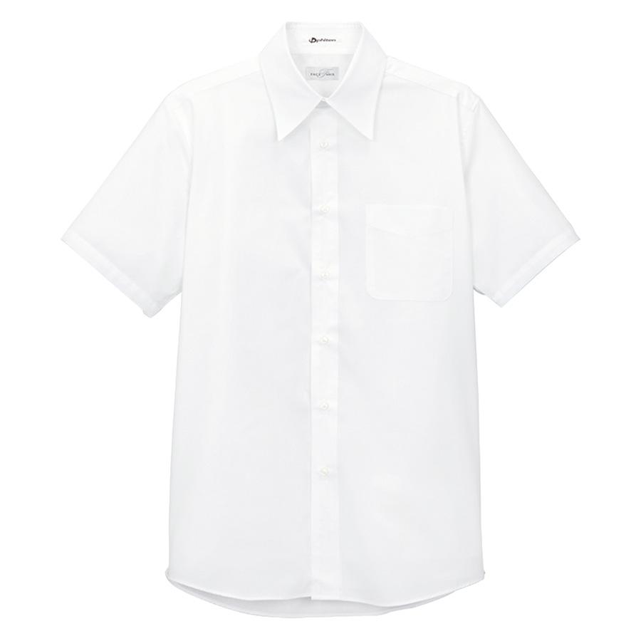 メンズ レギュラー カラー 半袖シャツ FB5004M−15 ホワイト