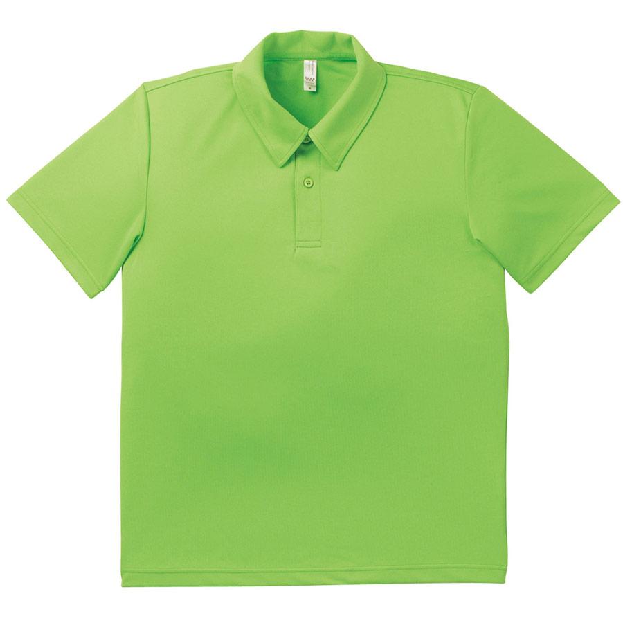ドライポロシャツ MS3107−54 ライムグリーン