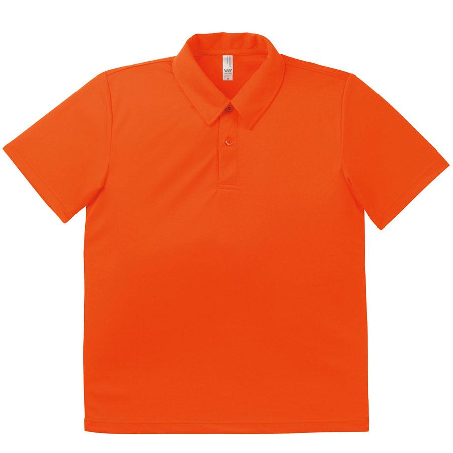 ドライポロシャツ MS3107−13 オレンジ