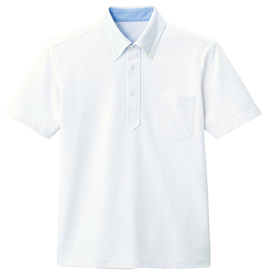 メンズ 半袖ポロシャツ FB5020M−15 ホワイト