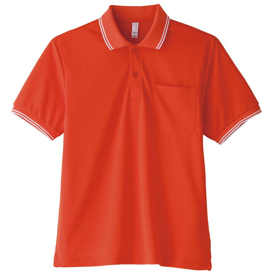 ポロシャツ ユニセックス MS3112−13 オレンジ (GS〜5L)