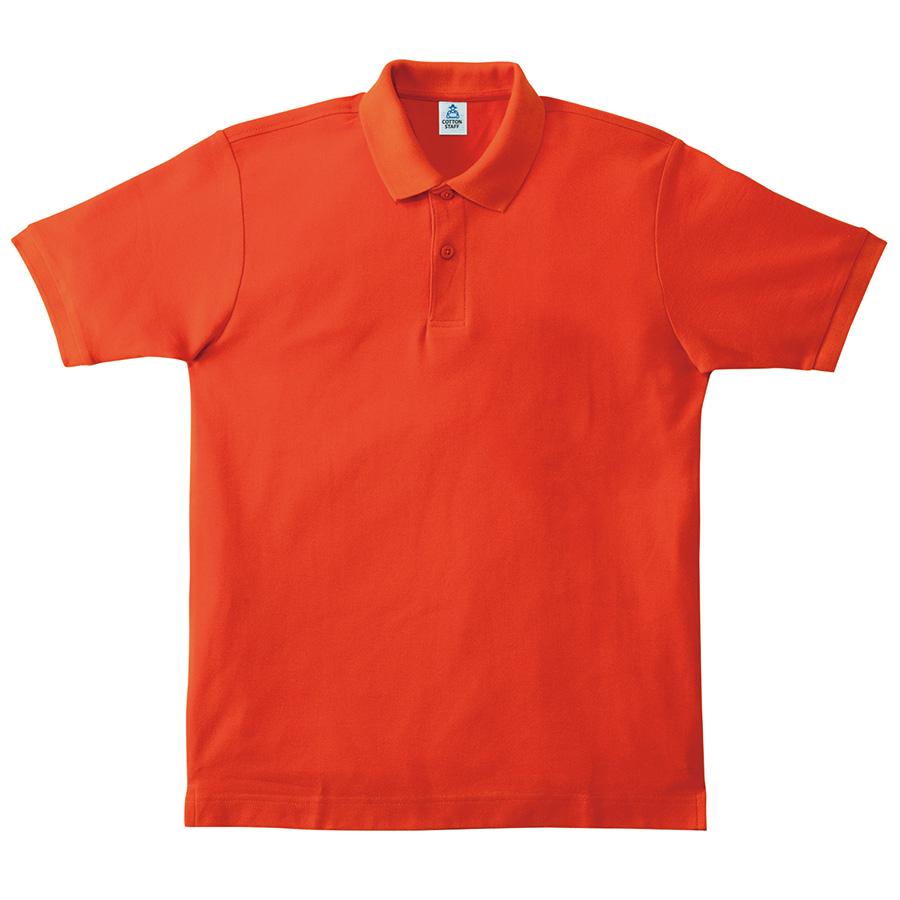 鹿の子ドライポロシャツ MS3113−13 オレンジ