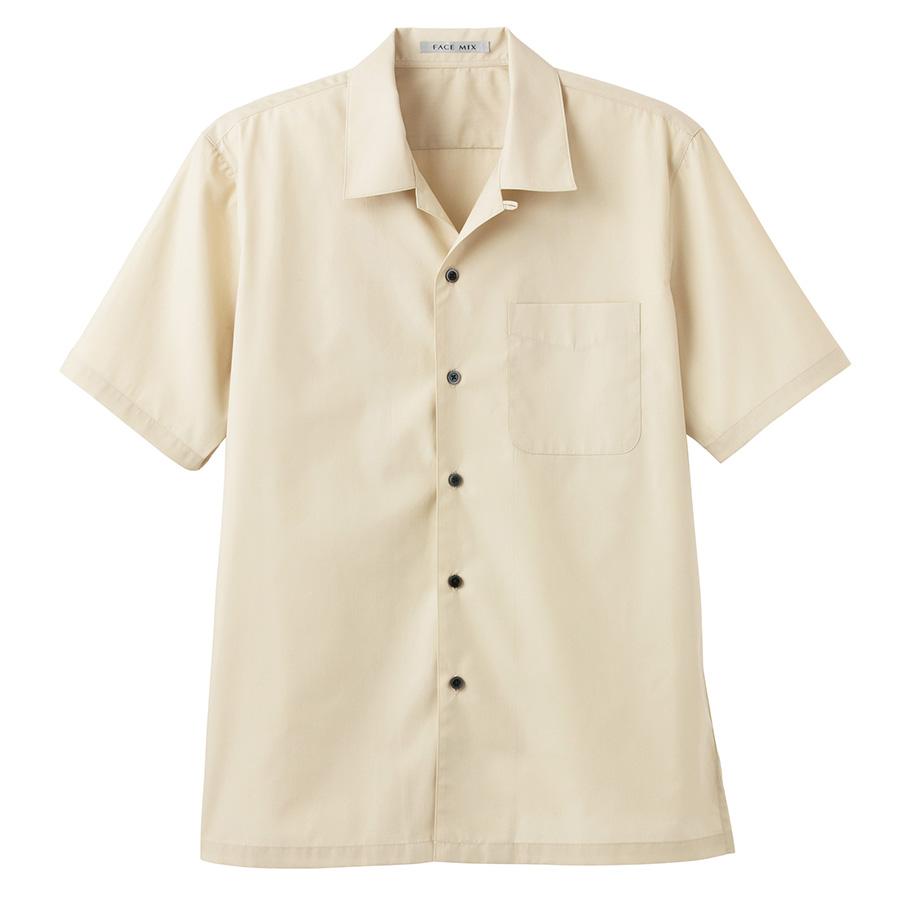 ブロードオープンカラー 半袖シャツ FB4529U−1 ベージュ