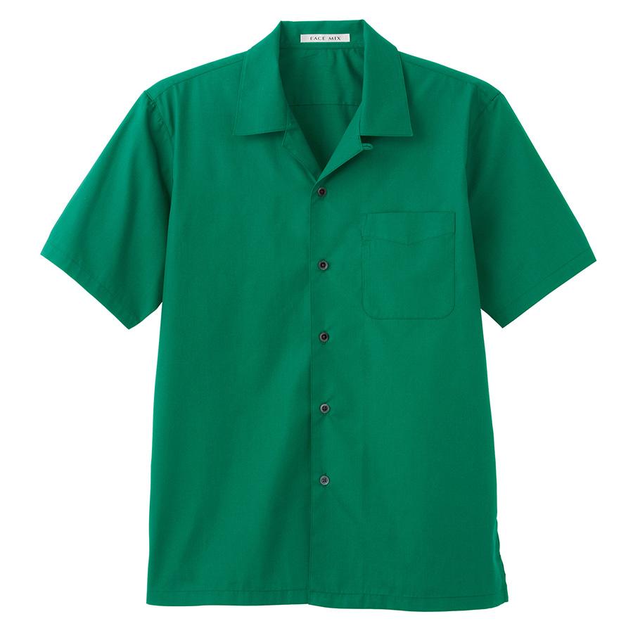 ブロードオープンカラー 半袖シャツ FB4529U−4 グリーン