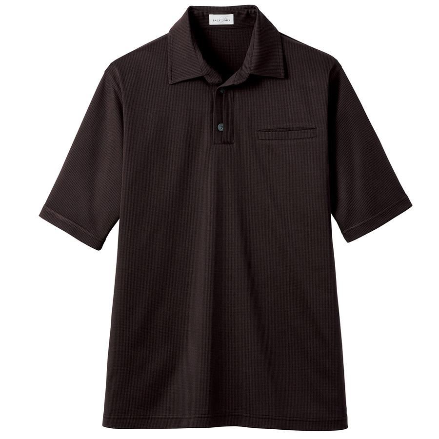 和ニットポロシャツ FB4532U−5 ブラウン (SS〜4L)