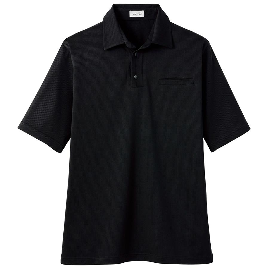 和ニットポロシャツ FB4532U−16 ブラック (SS〜4L)