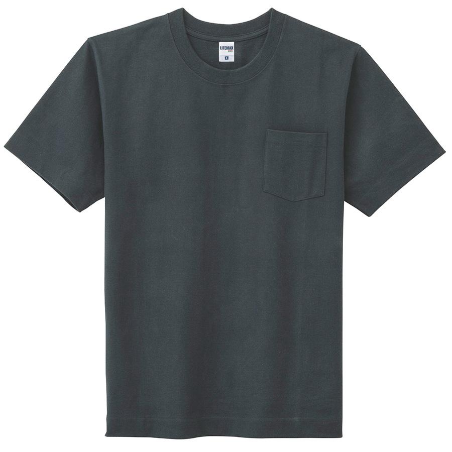 10.2オンススーパーヘビーウェイトポケット付きTシャツ MS1151−16 ブラック
