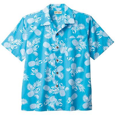 ユニセックス アロハシャツ パイナップル FB4546U−7 ブルー