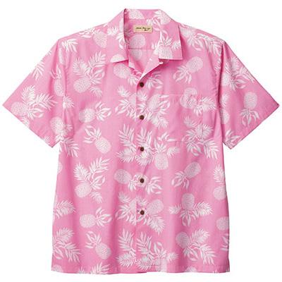ユニセックス アロハシャツ パイナップル FB4546U−9 ピンク