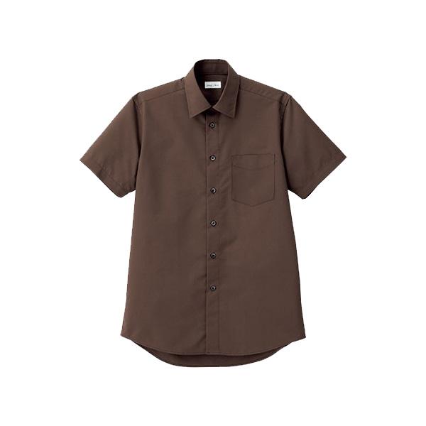 メンズ レギュラーカラー半袖シャツ FB5041M−5 ブラウン