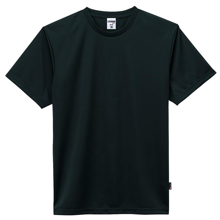 4.3オンス ドライTシャツ(ポリジン加工) MS1154−16 ブラック