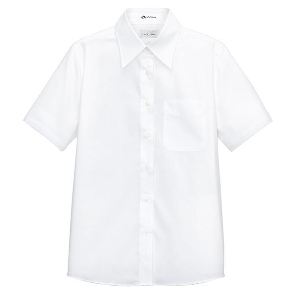 レギュラーカラー 半袖 ブラウス FB4004L−15 ホワイト
