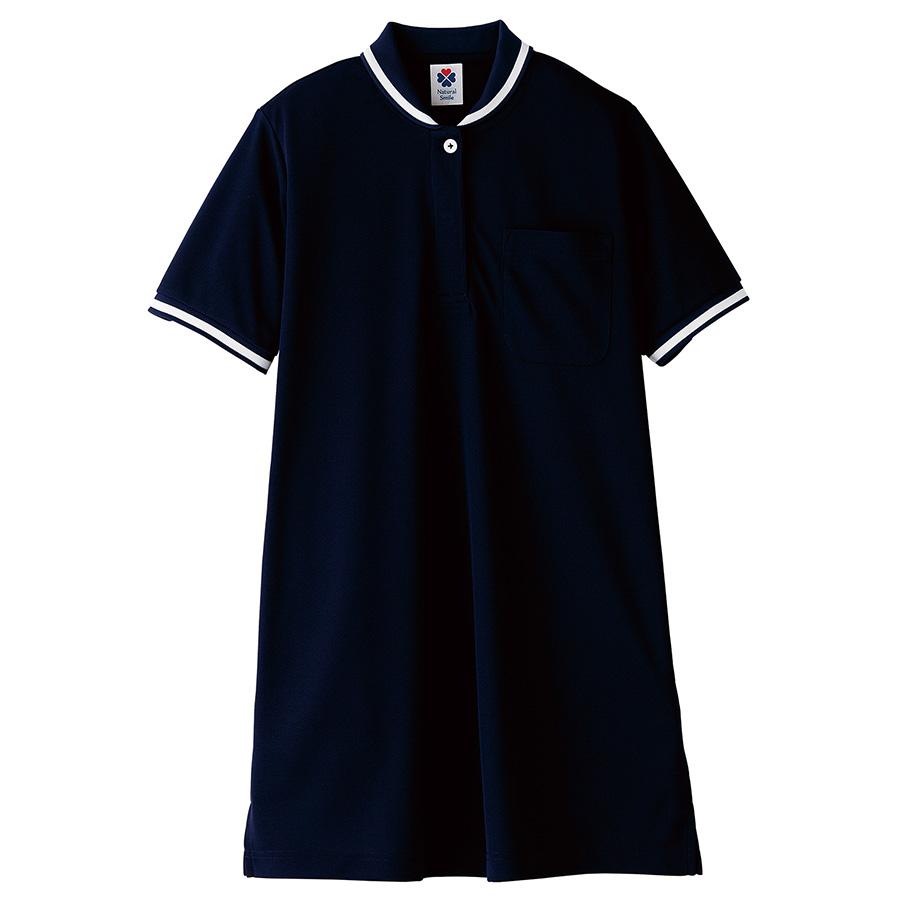レディスチュニックポロシャツ TB4002L−8 ネイビー (S〜3L)