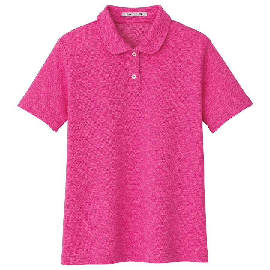 吸汗速乾フラットカラーポロシャツ FB4029L−9 ピンク