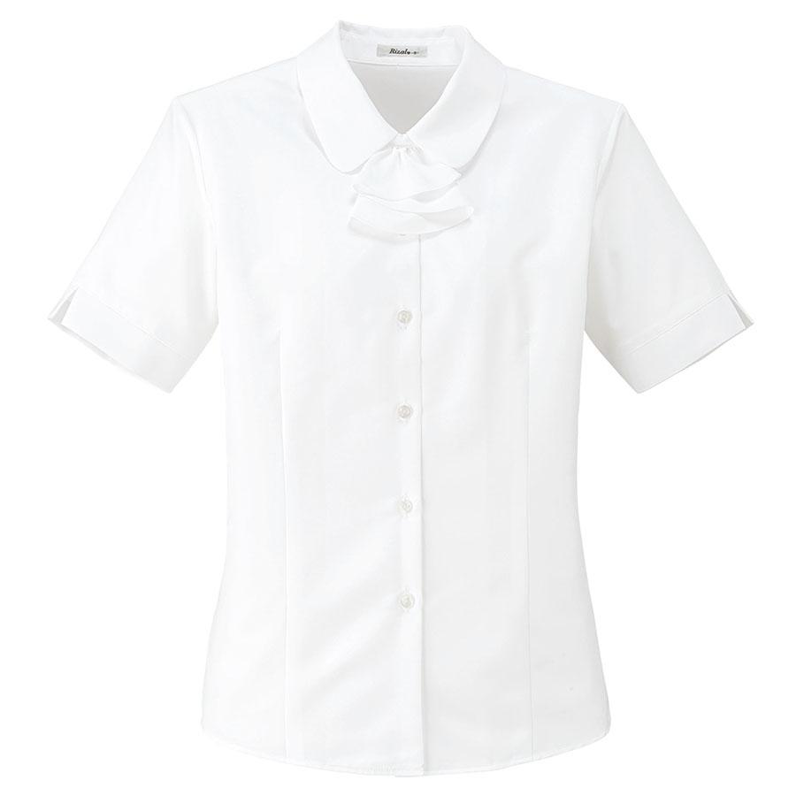 Rizal 半袖ブラウス RB4549−15 ホワイト (5〜19号)