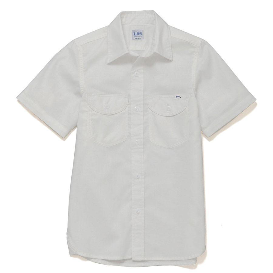 レディース シャンブレー半袖シャツ LCS43005−15 ホワイト