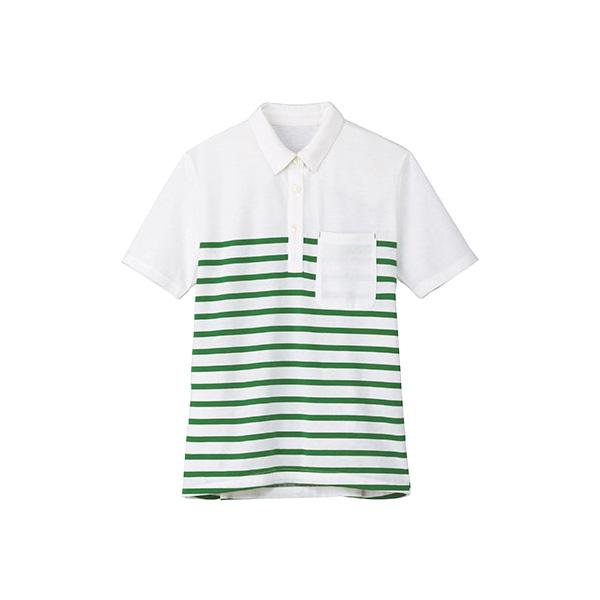 レディスボーダーポロシャツ TB4003L−4 グリーン