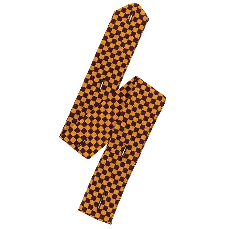 和衿ニットシャツ 替え前立て FA9320−B 市松文様からし