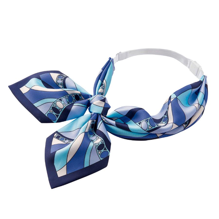 BA9135−6 スカーフ ブルー