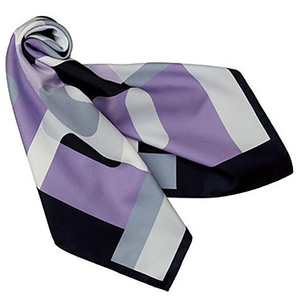 スカーフ FA9460−2 グレー×パープル