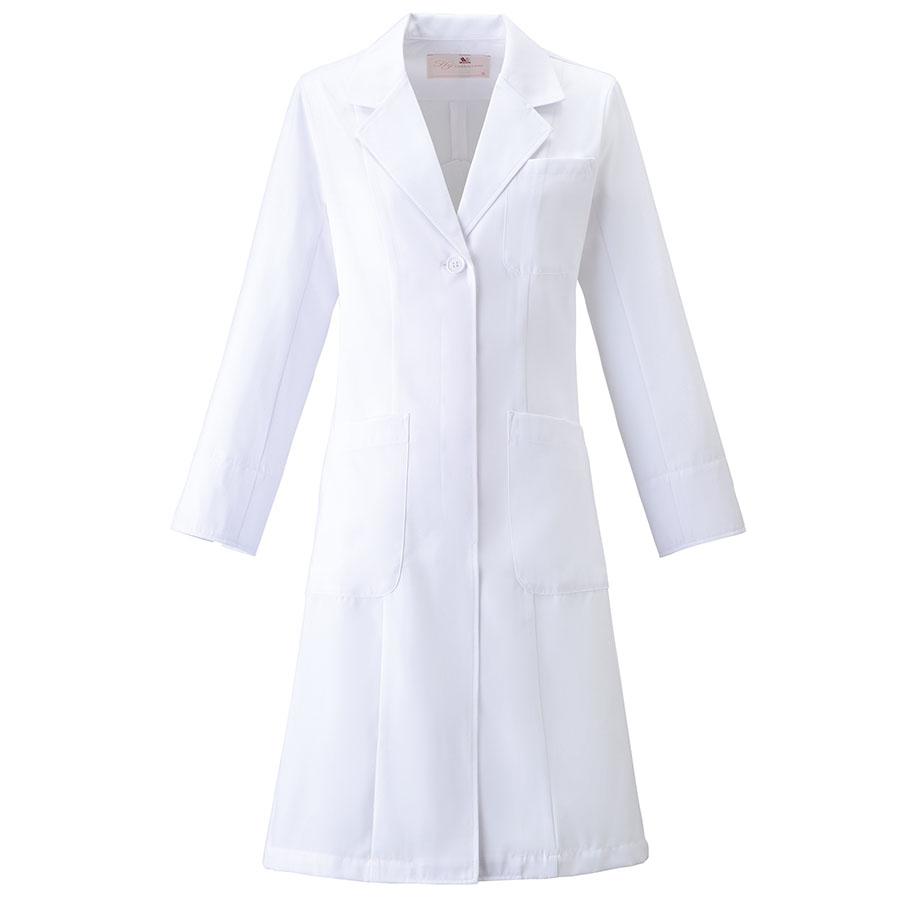 レディース ドクターコート HI400−1 ホワイト