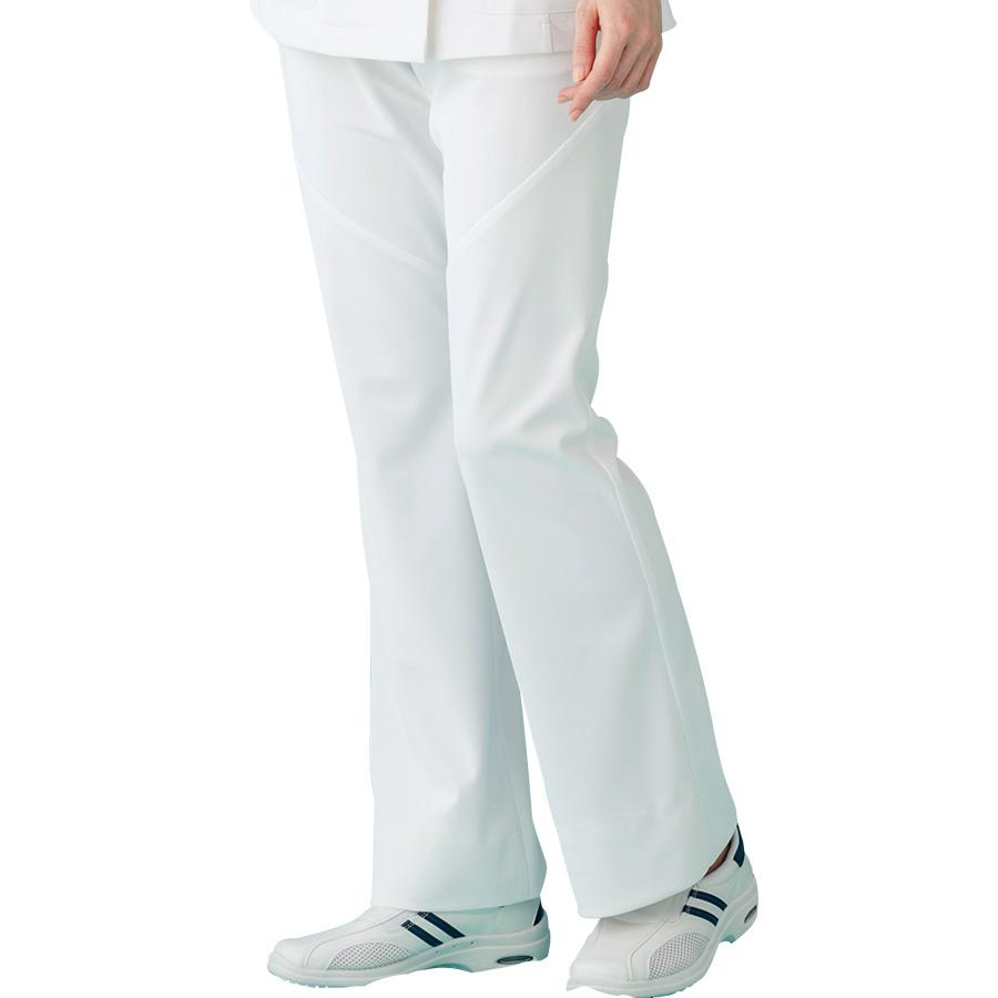 ナースウェア ブーツカットパンツ HI300−1 ホワイト
