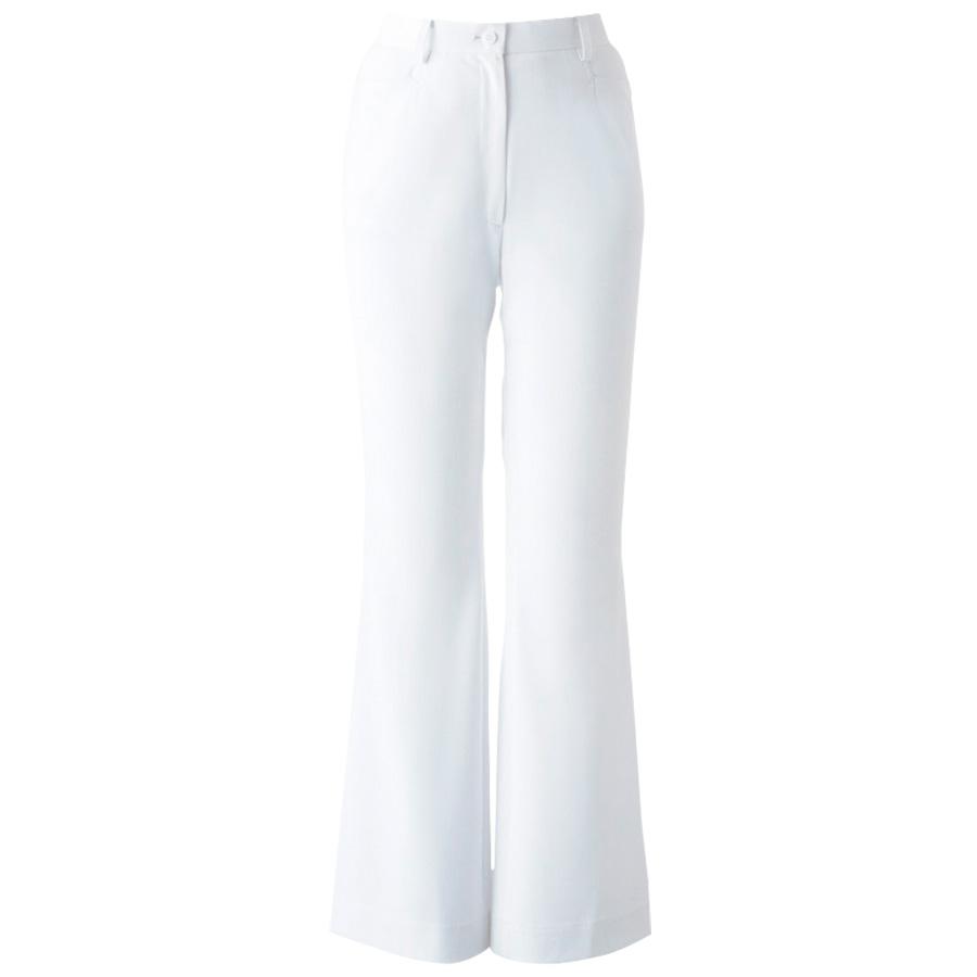 ナースウエア ブーツカットパンツ 女性 2916−1 ホワイト