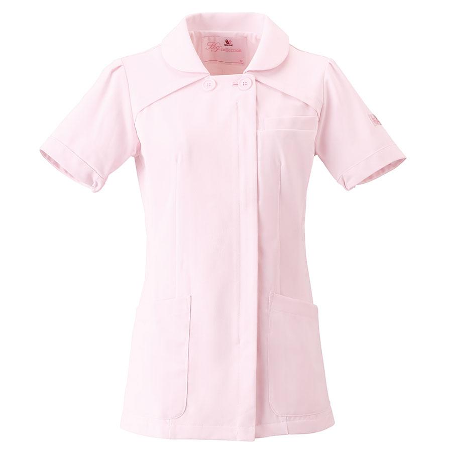 ナースウェア 半袖チュニック HI207−3 ピンク