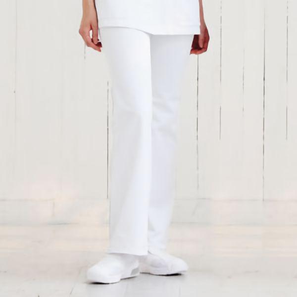 ナースウェア ブーツカットパンツ 2916−1 ホワイト