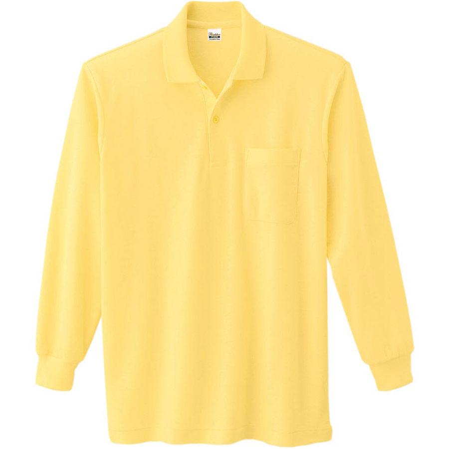 T/C長袖ポロシャツ ポケット付き 00169−VLP 020 イエロー 3L〜5L