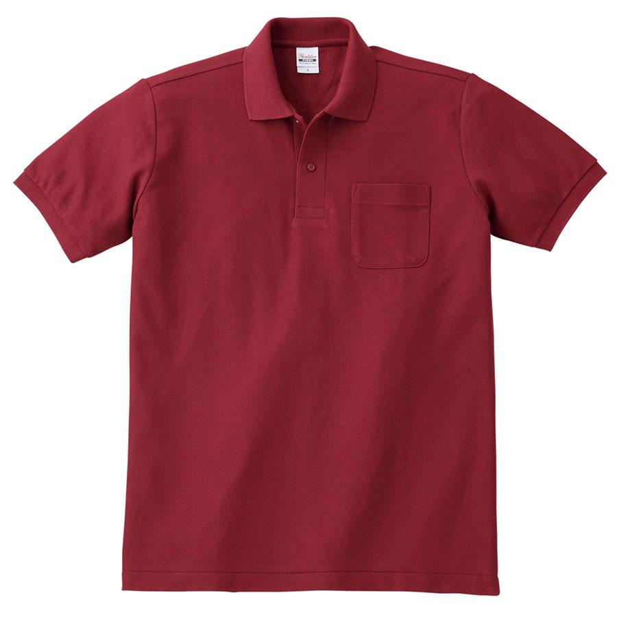 T/Cポロシャツ ポケット付き 00100−VP 112 バーガンディ 3L〜5L