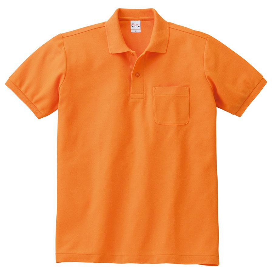 T/Cポロシャツ ポケット付き 00100−VP 015 オレンジ 3L〜5L