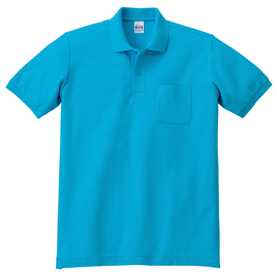 T/Cポロシャツ ポケット付き 00100−VP 034 ターコイズ SS〜LL