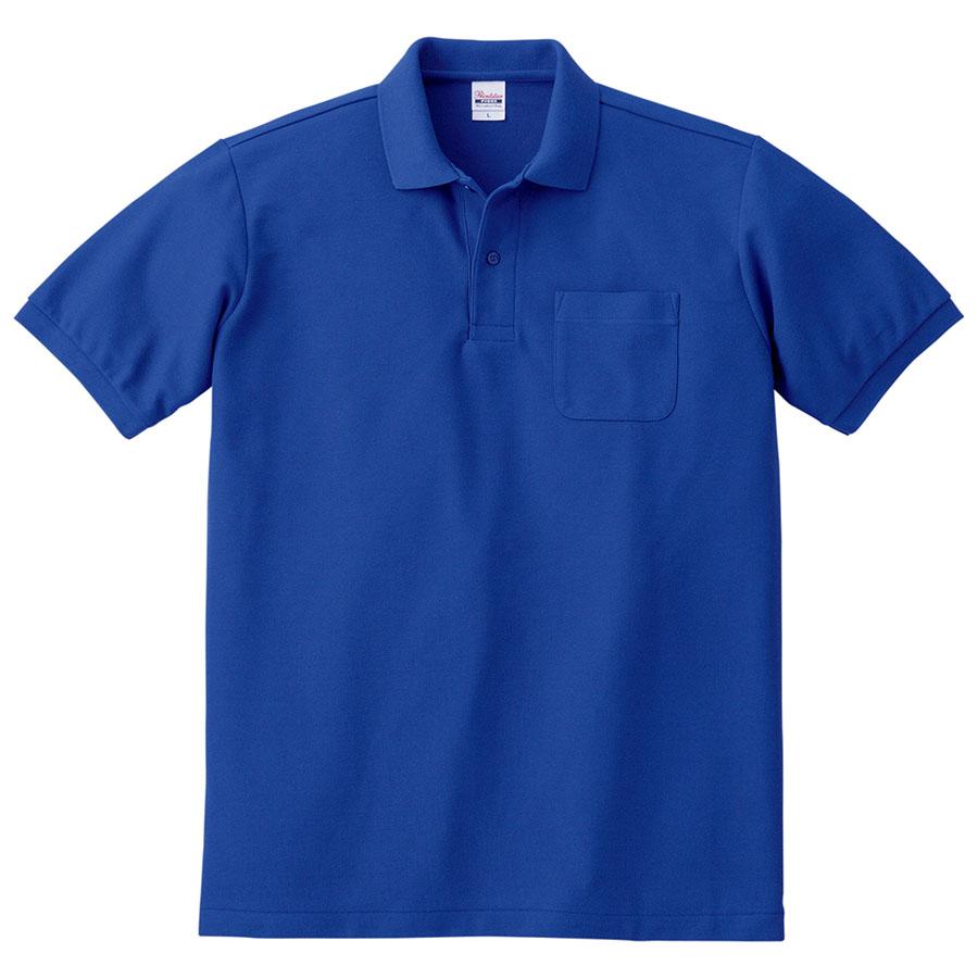 T/Cポロシャツ ポケット付き 00100−VP 032 ロイヤルブルー SS〜5L