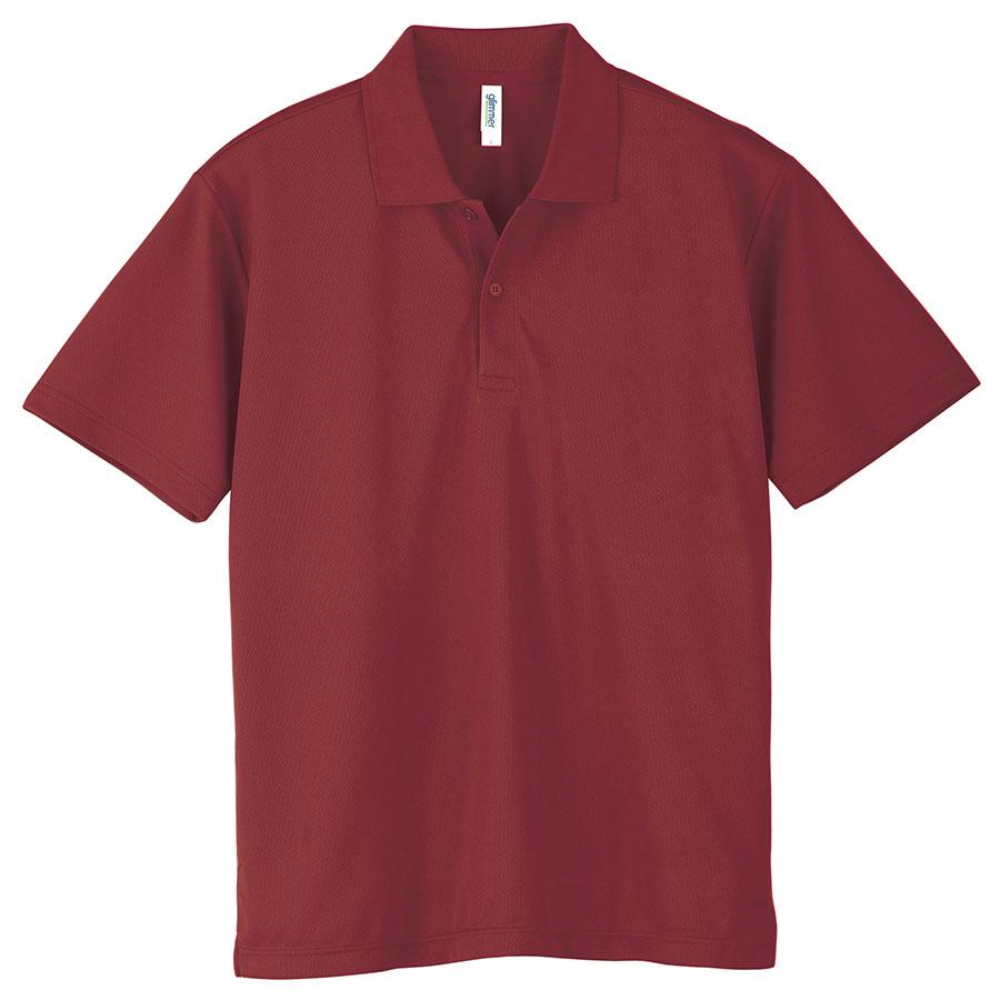 ドライポロシャツ ポケット無し 00302−ADP 112 バーガンディ 3L〜5L